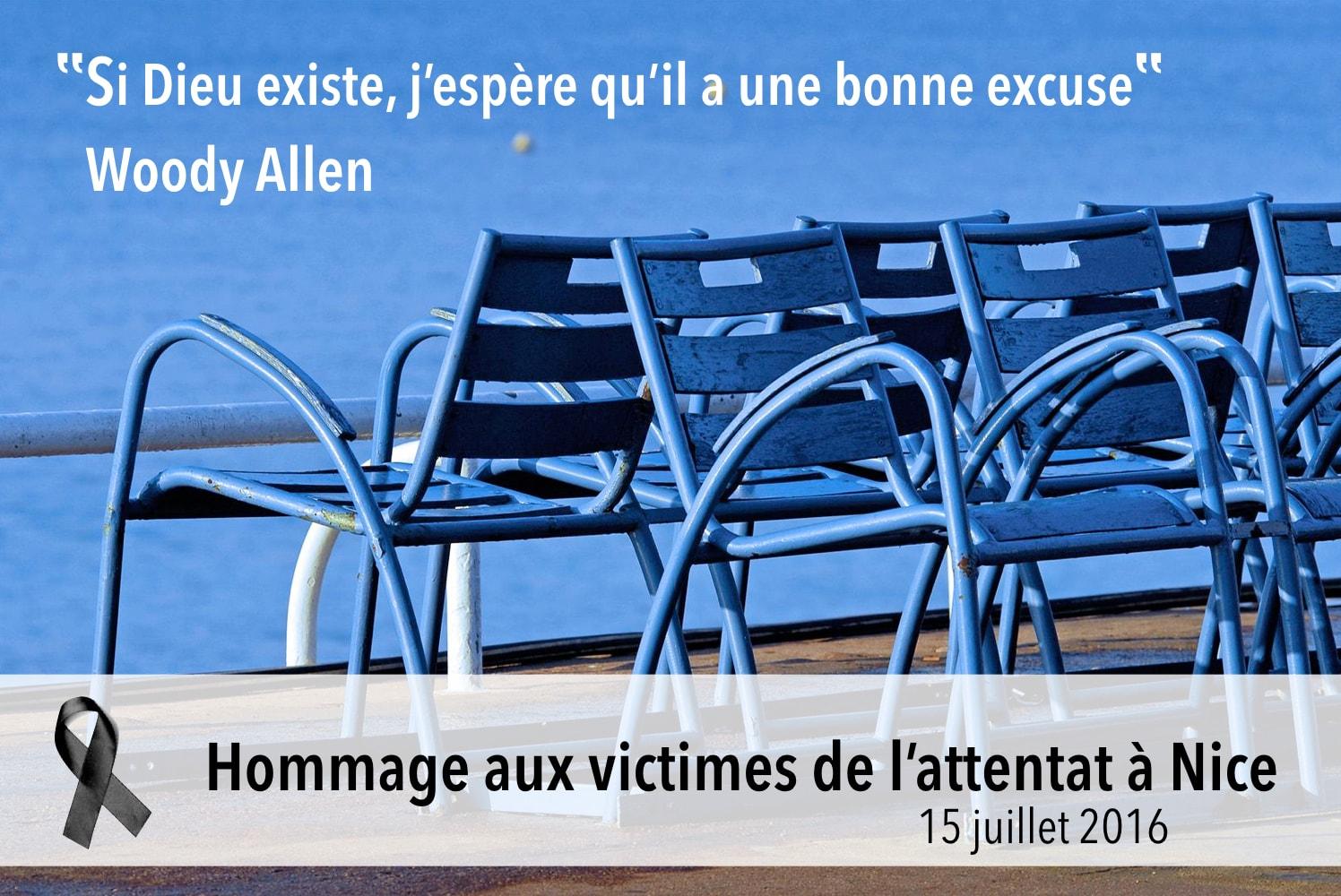 Hommage à toutes les victimes de l'attentat de Nice, le 15 juillet 2016